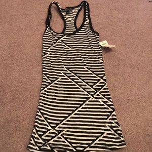 Black and white funky tank top